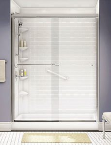 Shower with door